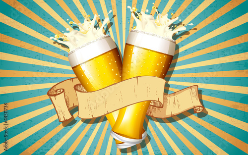 szklanka-piwa-w-tle-retro