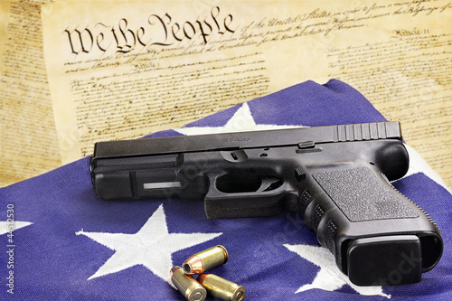Fotografia, Obraz  Handgun and Constitution