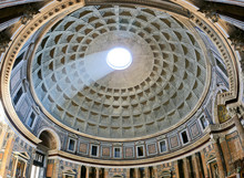 Ancient Architectural Masterpiece Of Pantheon In Roma, Italy