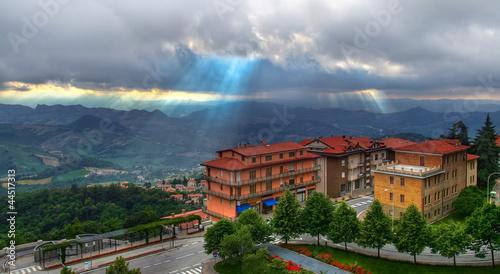 Fotografie, Obraz  View above San Marino in Italy