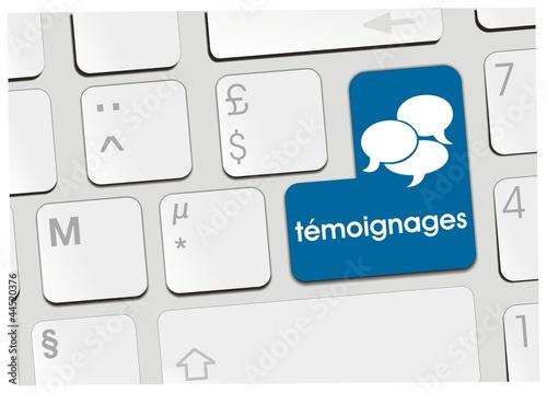 Photo clavier témoignages