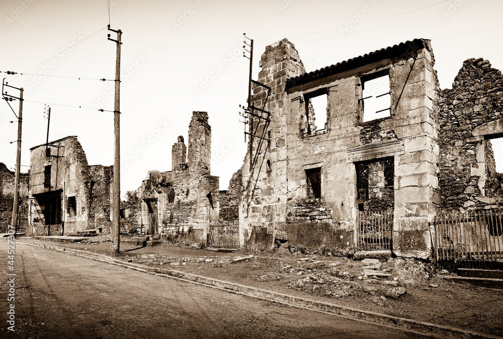 Fototapeta distruzione nazista