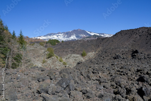 Fototapeta  from one side of the volcano