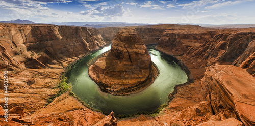 Spoed Foto op Canvas Canyon Horseshoe Bend panorama HDR