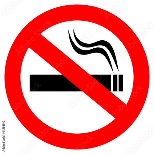 Fotografía No smoking vector sign