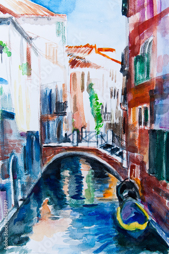 Nowoczesny obraz na płótnie Venedig - Aquarell III
