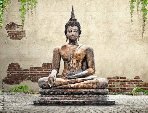 buddha statue concept Poster