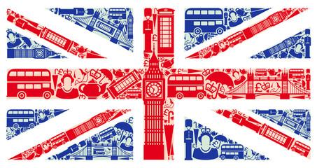 Fototapeta Flag of England from symbols of the United Kingdom and London