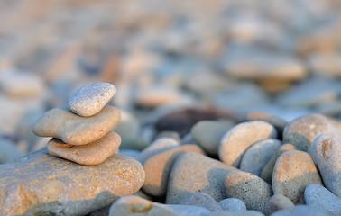 Fototapeta na wymiar abstract background with round peeble stones