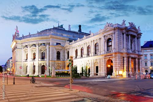 Garden Poster Vienna The state Theater Burgtheater of Vienna, Austria at night