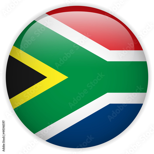 South Africa Flag Glossy Button