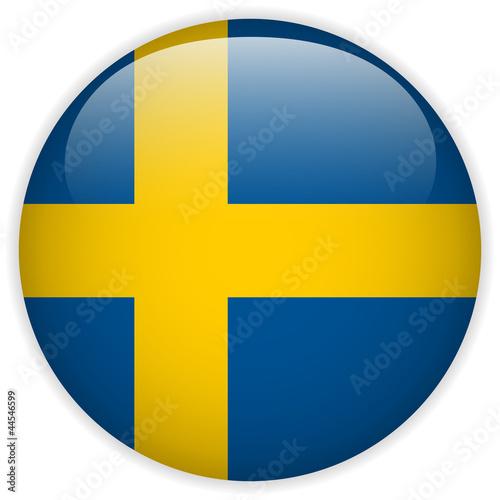 Fotografía  Sweden Flag Glossy Button