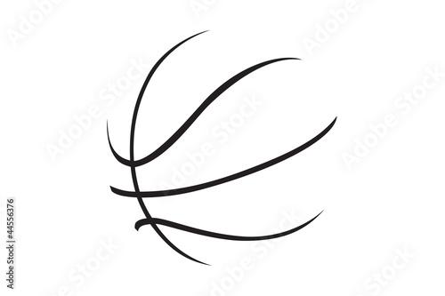 Fényképezés A silhouette of a basketball