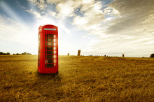 Traditional Red Telephone Booth