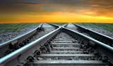 Railroad in sunset - 44564511