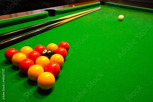 Fotografia, Obraz pool billiards table
