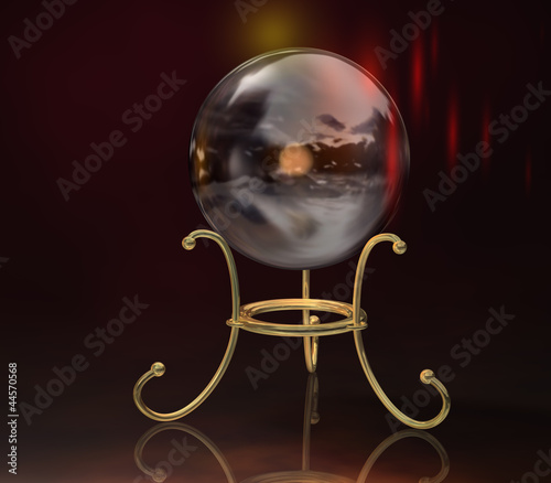 Doppelrollo mit Motiv - Kristallkugel 2 (von markus dehlzeit)