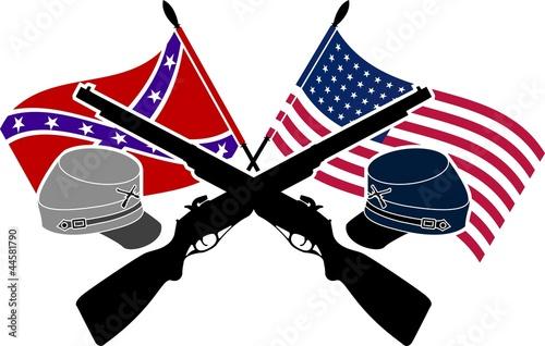 Obraz na plátně American Civil War. stencil. second variant
