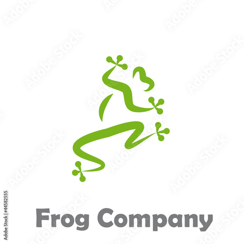 Logo Frog Company # Vector Canvas Print