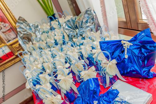 Tuinposter Abstract bloemen bonbonierre, fancy sweet-box in wedding
