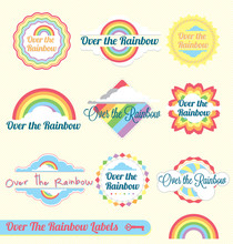 Vector Set: Over The Rainbow Labels And Stickers