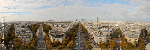 Poster de jardin Paris View towards La Défense