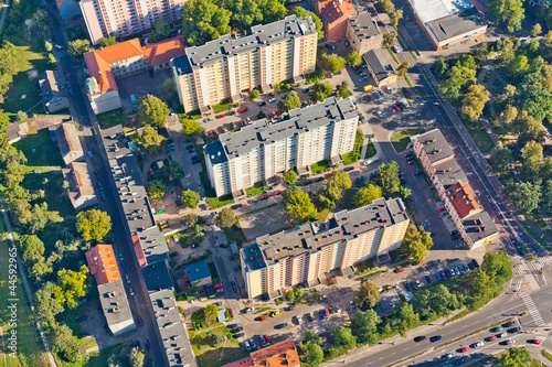 Foto op Canvas Australië aerial view of Opole city suburbs