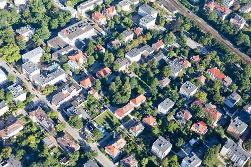 aerial view of Opole city suburbs © mariusz szczygieł