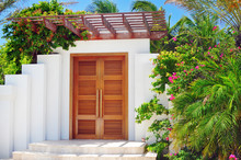 Luxury Caribbean Home Front Entry