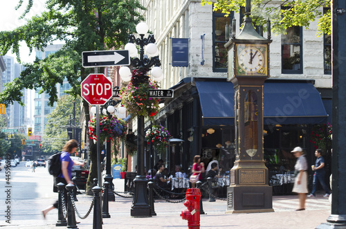 Fototapeta premium Zegar parowy Gastown w Vancouver
