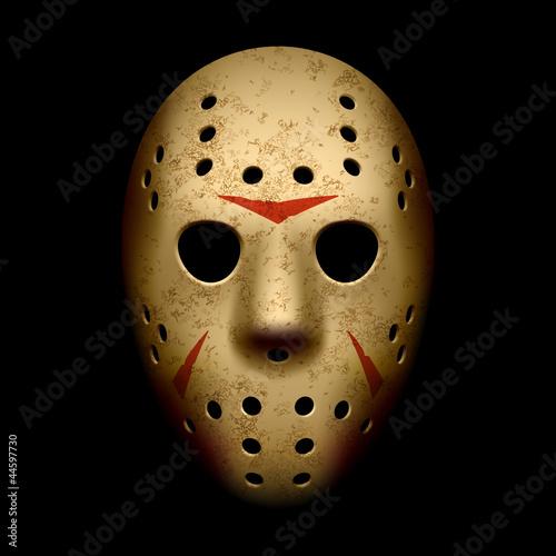 Photo  Scary hockey mask