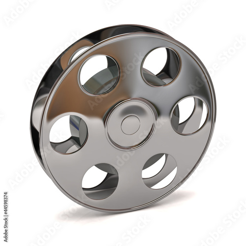 Foto op Plexiglas Retro 3d illustration of film reel