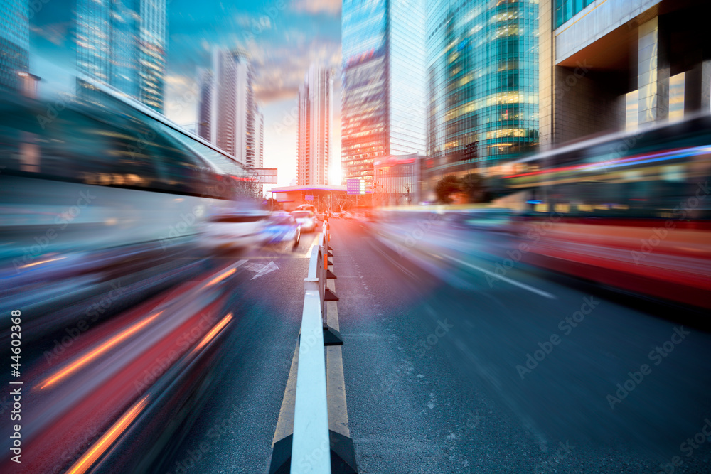 Fototapety, obrazy: dynamic street in modern city