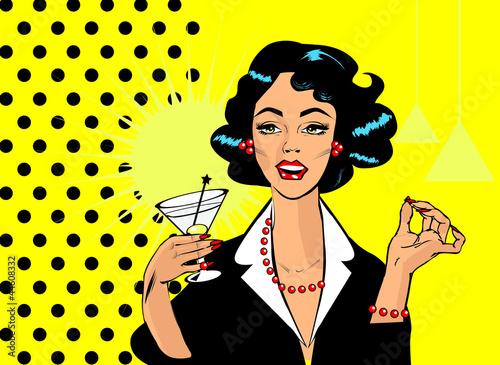 kobieta-pije-martini-lub-koktajlu-retro-rocznika-clipart