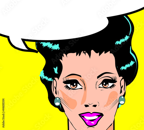 Papiers peints Comics Vector illustration of woman in a pop art/comic style.