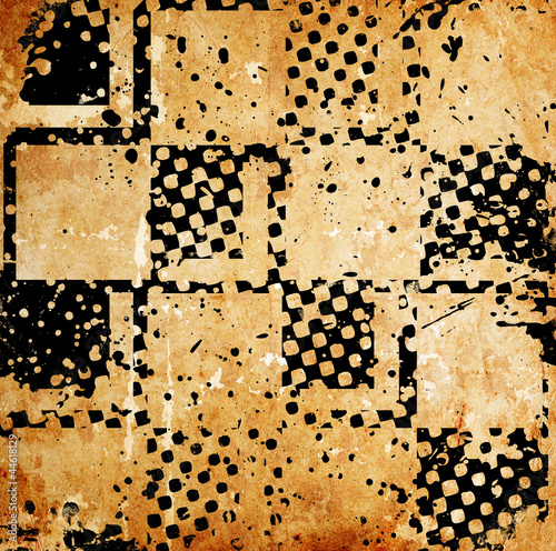 Grungy chessboard background with stains Tapéta, Fotótapéta