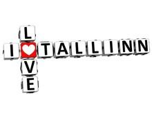 3D I Love Tallinn Crossword
