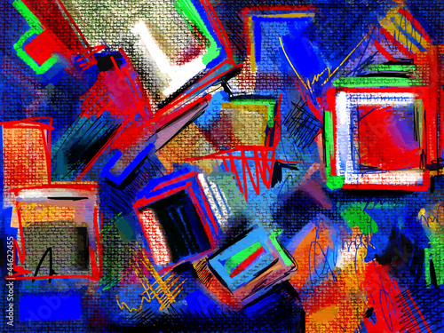 original hand draw abstract digital painting composition - 44622455