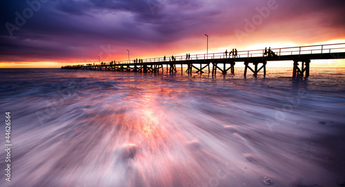 Printed kitchen splashbacks Eggplant Sunset Jetty