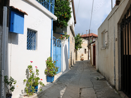 Foto op Canvas Cyprus Typical street in Omodos village, Cyprus