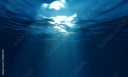 Poster Waterlelies light underwater in ocean