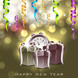 Happy New Year greeting card. EPS 10.