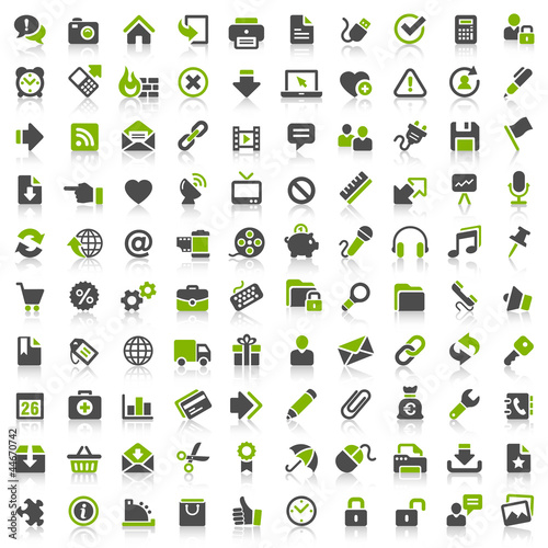 Fotomural 100 Website Icons