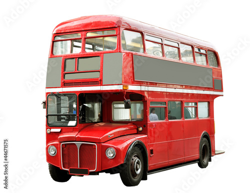 Tuinposter Londen rode bus Red bus.