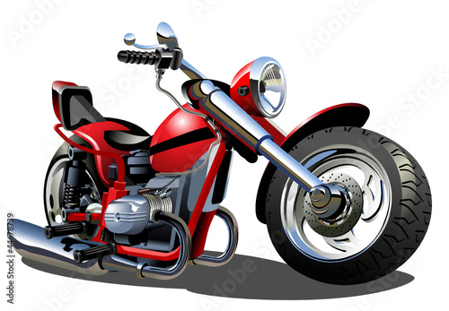 Tuinposter Motorfiets Vector Cartoon Motorcycle