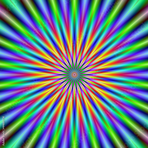 Photo sur Aluminium Psychedelique Flower Star