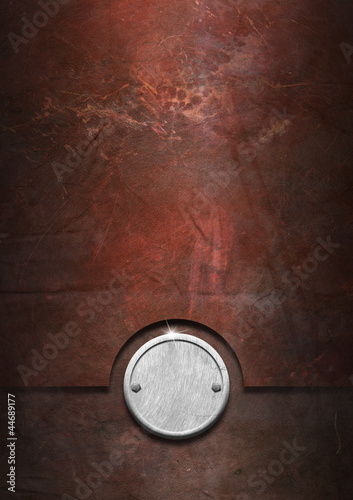 Photo Stands Ship Grunge Metal Background