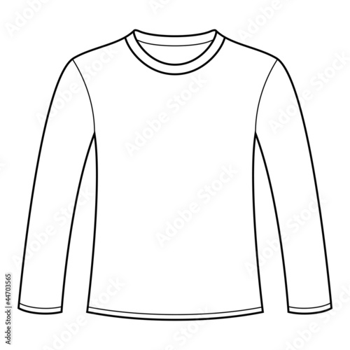 Long sleeved t shirt template buy this stock vector and explore long sleeved t shirt template maxwellsz