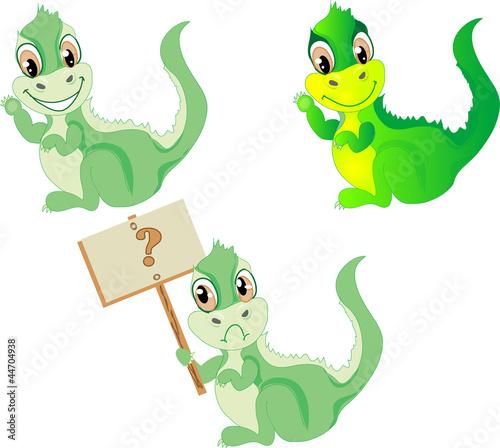 Keuken foto achterwand Dinosaurs Set of dragons