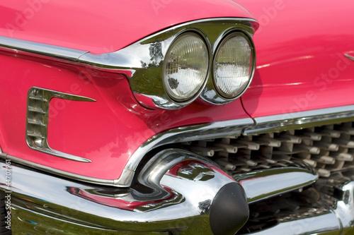 Fotografie, Obraz  headlights of a classic car